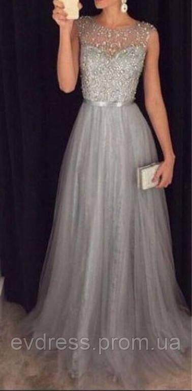 63a09bb114c5f13 Вечернее серое платье на свадьбу выпускной DL-1528 - Интернет-магазин  ev-dress