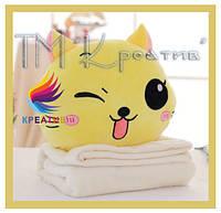 Декоративные подушки под заказ котики с Вашим логотипом (от 100 шт), фото 1