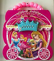 """Блокнот на замочке с кодовым замочком  """"Принцессы"""" 16,5 х 16,5 см 48 листов"""