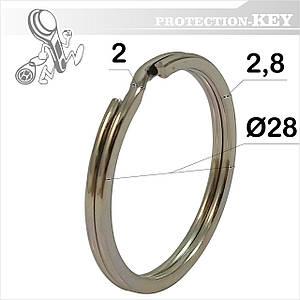 Кольцо заводное Ø28 * 2 мм (плоское)