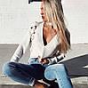 Женская кофта со шнуровкой. Ф-10-1218, фото 3