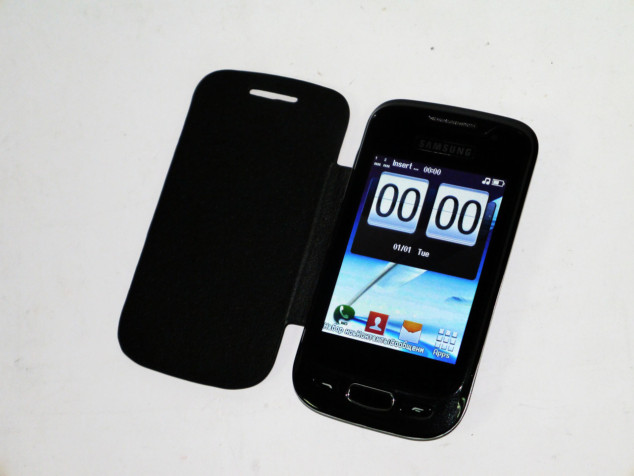 "Samsung S800 на 2 сим, экран 3.2"", крышка- чехол black"