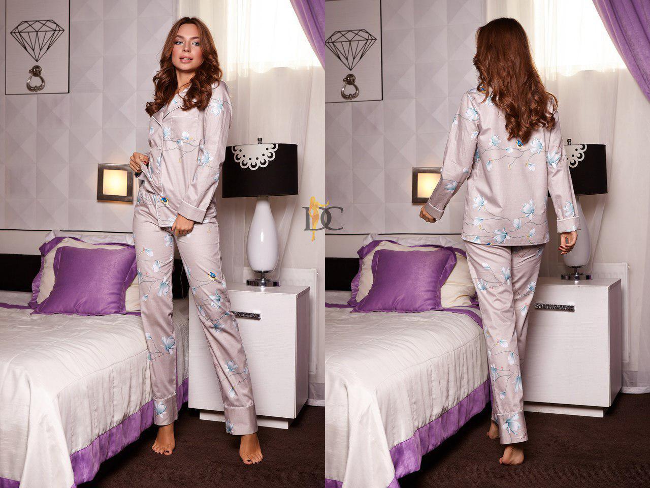 7bec484e05a Купить Красивую женскую пижаму в расцветках (рубашку и штаны) r ...