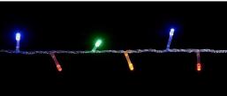 Гирлянда DELUX STRING 200LED 10m мультиколор/черный провод, внешняя