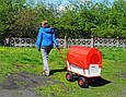 Тачка Садова на 4-х колесах Візок з тентом, фото 8