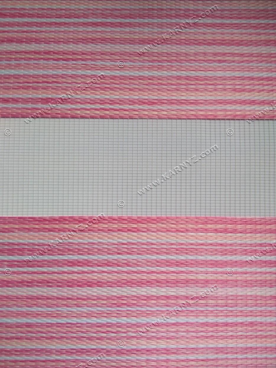 Ролета День-Ночь Лайм в полоску C-275 розовый/белый/малиновый