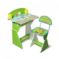 """Парта + стул E2017 GREEN """"Веселой учебы"""""""