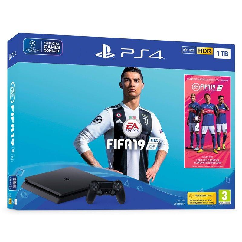 Sony PlayStation 4 Slim 1TB + Fifa 19