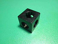 Кутовий з'єднувач куб верстатного профілю 20 серії, фото 1