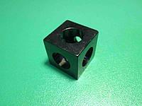 Кутовий з'єднувач куб верстатного профілю 20 серії