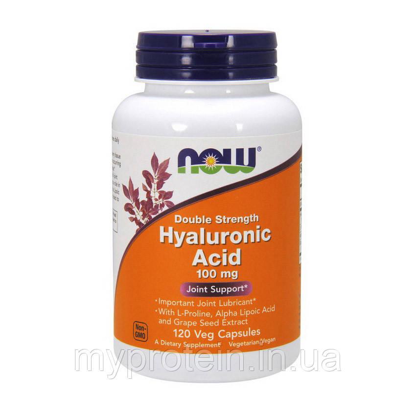 NOW Гиалуроновая кислота Hyaluronic Acid 100 mg double strength 120 veg caps