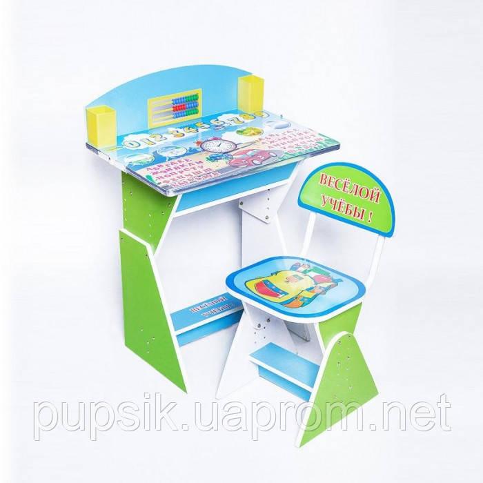 """Парта + стул E2017 GREEN-BLUE """"Веселой учебы"""""""