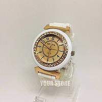 Силиконовые женские часы белые Geneva