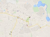 Карта расположения бигбордов по г. Шостка