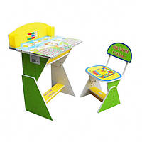 "Парта + стул E2017 GREEN-YELLOW ""Веселой учебы"""