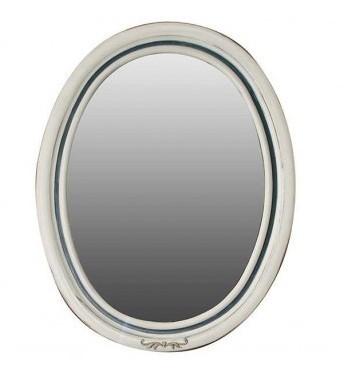 Зеркало Атолл (Ольвия) Флоренция 75 ivory old + синяя патина