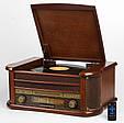 Деревянный Грамофон Проигрыватель CAMRY CR 1111 Радио CD USB Mp3  + Пульт, фото 2