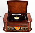 Деревянный Грамофон Проигрыватель CAMRY CR 1111 Радио CD USB Mp3  + Пульт, фото 8