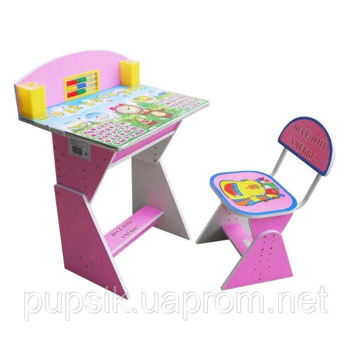 """Парта + стул E2017 PINK """"Веселой учебы"""""""