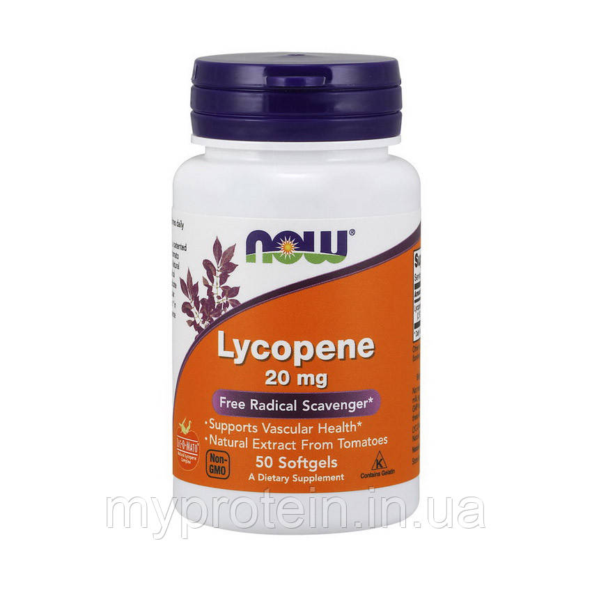 NOW Ликопин Lycopene 20 mg 50 softgels