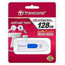 USB флеш накопитель Transcend 128GB JetFlash 790 White USB 3.0 (TS128GJF790W), фото 3