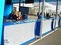 Промостол ресепшн (торговый, выставочный ресепшн) под заказ в Киеве (R-42)