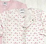 Детский комплект из 2 единиц для девочки Человечков,слипов Сердечки розовые +розовый, фото 2