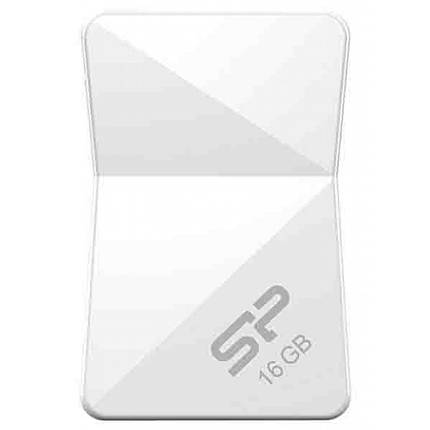 USB флеш накопитель Silicon Power 16Gb Touch T08 White USB 2.0 (SP016GBUF2T08V1W), фото 2