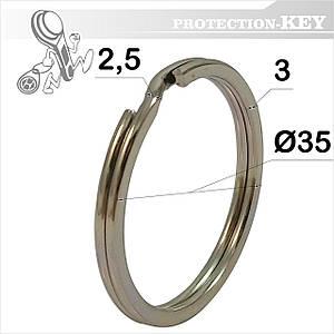 Кольцо заводное Ø35 * 2.5 мм (плоское)