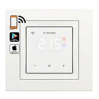 Терморегулятор для теплого пола с Wi-Fi  terneo sx сенсорный  unic белый