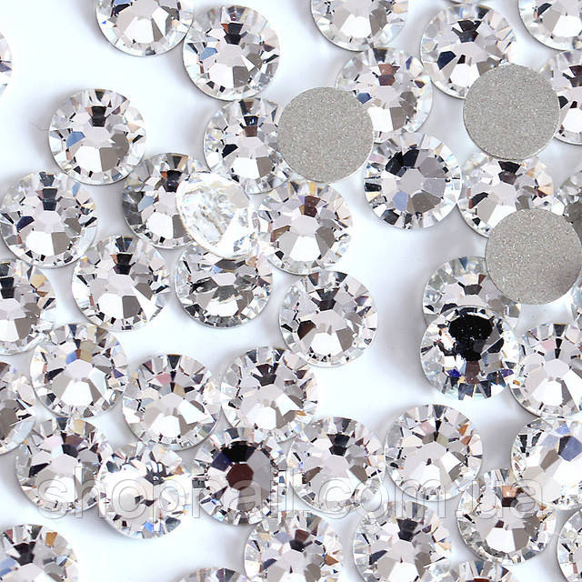 Стразы MIX - разные размеры, серебро (1400 шт)