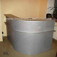 Модульный стол ресепшн с изгибом в офис. Офисная мебель по индивидуальным размерам (R-43)