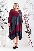 55b54d839d7 Красивое бордовое платье больших размеров Хельга