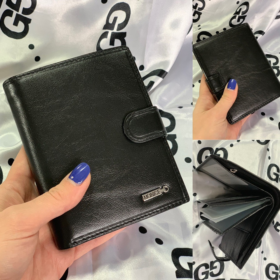 Кожаное мужское портмоне - бумажник 1052