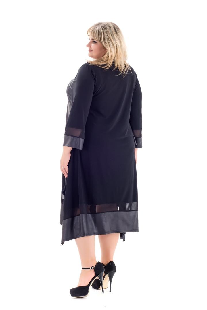 692f3762bb1 Красивое черное платье больших размеров Хельга