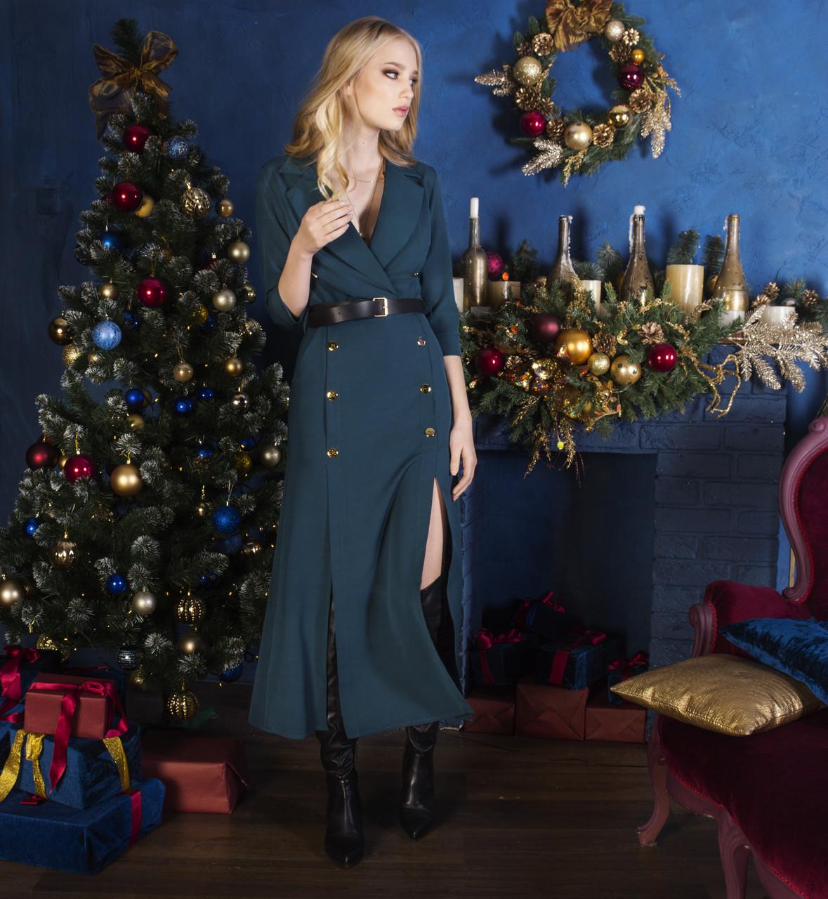 Платье темно-синее, арт.1021