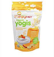 Йогуртово-фруктовый снек HappyBaby Yogis, банан и манго