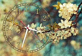 Часы на стену 30х45 см Весна