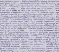 Ткань мелкий рисунок Газета, №PS-6, сиреневый, хлопок 100%