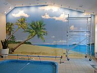 Стены для бассейнов. Оформление