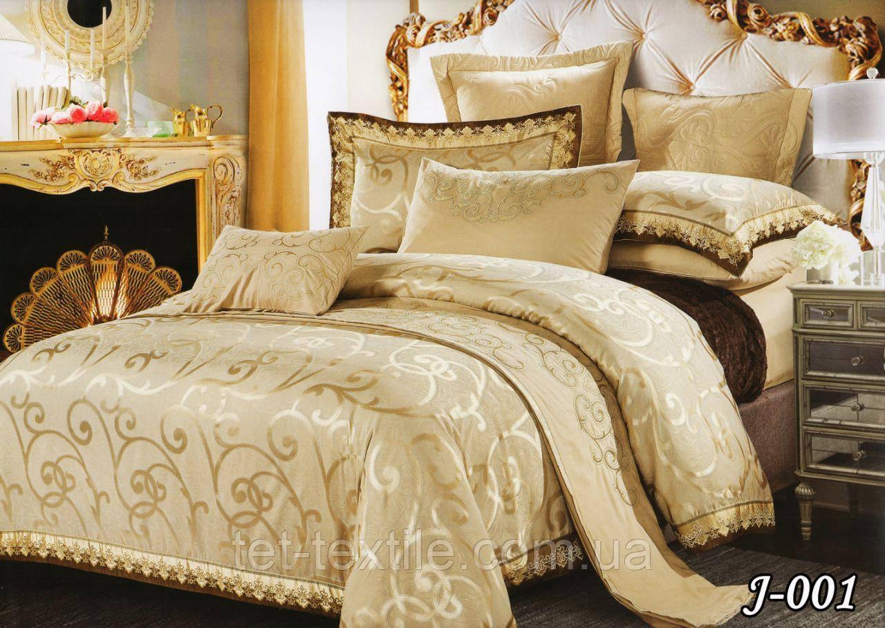 Комплект постельного белья из жаккарда ТЕТ Текстиль (евро)