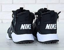 Кроссовки мужские на меху Nike huarache Black and White Реплика, фото 3