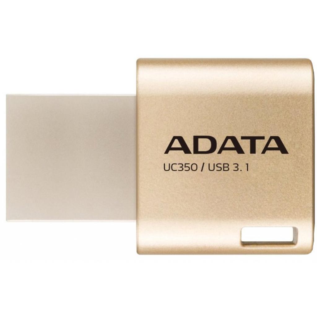 USB флеш накопитель ADATA 32GB UC350 Gold USB 3.1/Type-C (AUC350-32G-CGD)