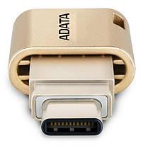 USB флеш накопитель ADATA 32GB UC350 Gold USB 3.1/Type-C (AUC350-32G-CGD), фото 2