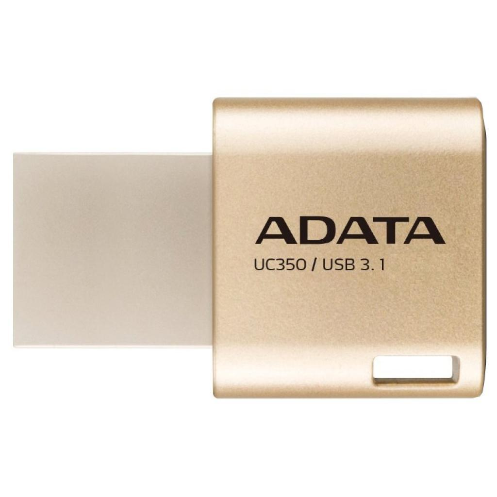 USB флеш накопитель ADATA 64GB UC350 Gold USB 3.1/Type-C (AUC350-64G-CGD)