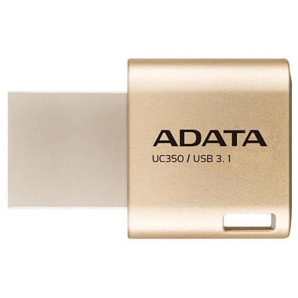 USB флеш накопитель ADATA 64GB UC350 Gold USB 3.1/Type-C (AUC350-64G-CGD), фото 2
