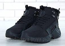 Кроссовки мужские на меху Nike huarache Black Реплика, фото 2