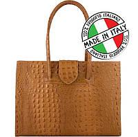 ec85c309445c Женская сумка кожаная,деловая с тиснением под крокодила Bottega Carele BC312