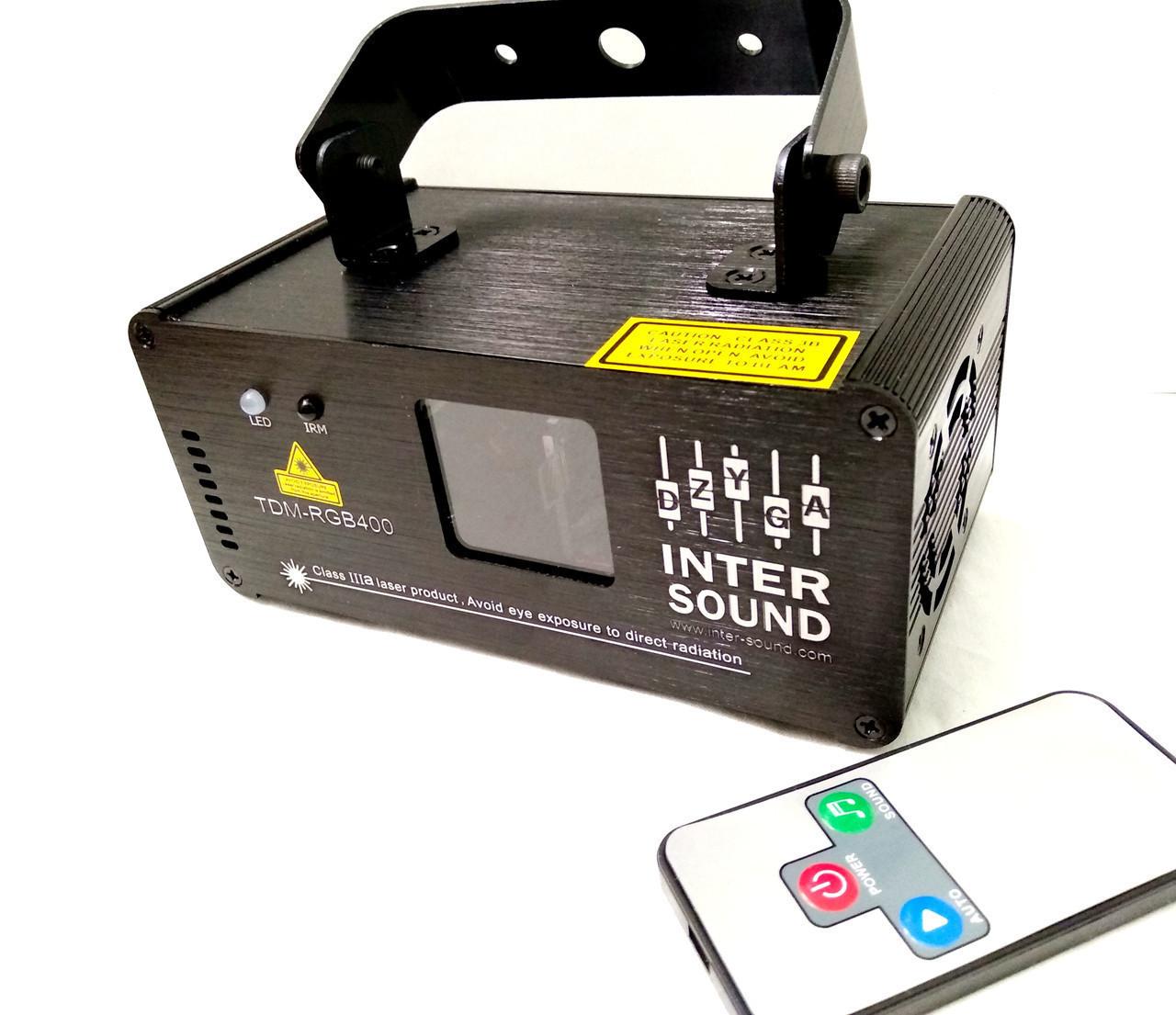Диско лазер 3D RGB c DMX512. TDM-RGB400. Лазерный дискотечный проектор, светомузыка