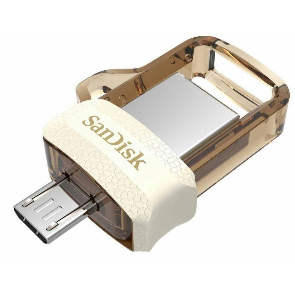 USB флеш накопитель SANDISK 64GB Ultra Dual Drive m3.0 White-Gold USB 3.0/OTG (SDDD3-064G-G46GW)